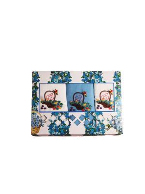 Набор вафельных полотенец из 3-х шт.Незабудки Dream time. Цвет: голубой, белый