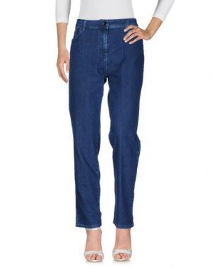Джинсовые брюки BARONI. Цвет: синий