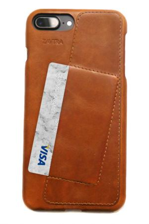 Чехол-бампер для iPhone 7 plus ZAVTRA. Цвет: коричневый