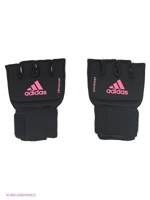 Накладки гелевые с бинтом 2 метра Quick Wrap Glove Mexican Adidas. Цвет: черный, розовый