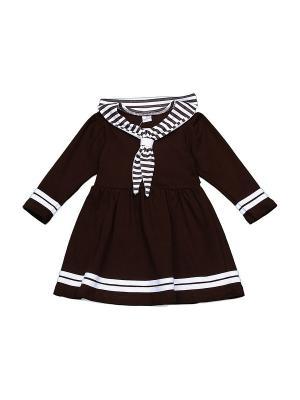 Платье БЕБИ БУМ Сиб. Цвет: темно-коричневый