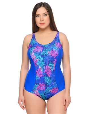 Слитные купальники AIRIDACO. Цвет: синий, бирюзовый, розовый
