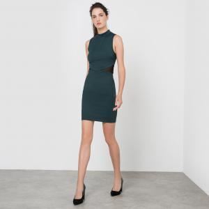Платье облегающее без рукавов MOLLY BRACKEN. Цвет: зеленый,красный темный