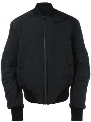 Классическая куртка-бомбер Barbara I Gongini. Цвет: чёрный