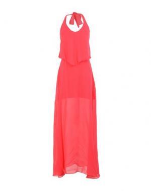 Длинное платье PINKO. Цвет: пурпурный