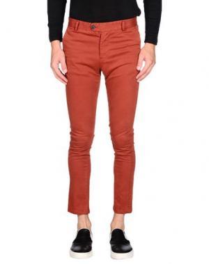 Повседневные брюки DAVID NAMAN. Цвет: ржаво-коричневый