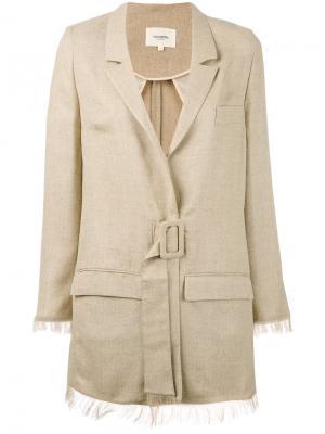 Belted safari jacket Nanushka. Цвет: телесный