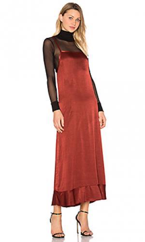 Макси платье lucky LACAUSA. Цвет: красный