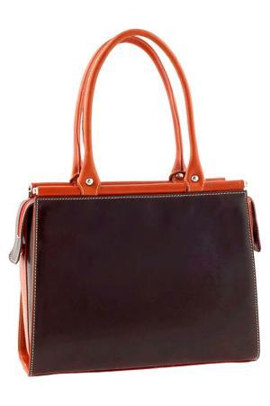 Сумка Classe Regina. Цвет: dark brown and orange