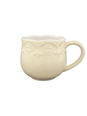 Кружка Молочная с узором Elan Gallery. Цвет: молочный