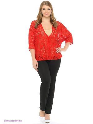 Блузка гипюровая xLady. Цвет: красный