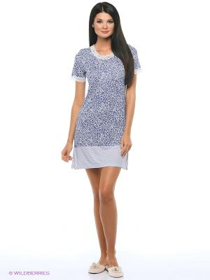 Ночная сорочка ARDI. Цвет: голубой