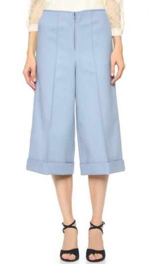 Широкие брюки из твила Leur Logette. Цвет: синий