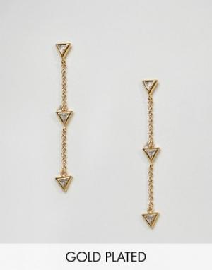 Gorjana Позолоченные серьги‑подвески в виде стрелы. Цвет: золотой