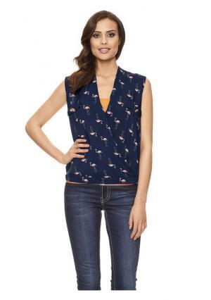 Блузка Mandarin. Цвет: темно-синий