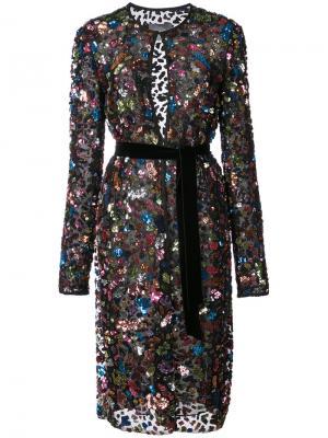 Декорированный удлиненный пиджак Monique Lhuillier. Цвет: чёрный