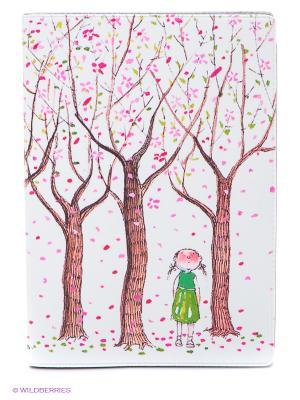 Обложка для автодокументов Цветущие яблони Mitya Veselkov. Цвет: белый, розовый