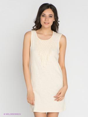 Платье Vero moda. Цвет: молочный