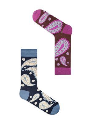 Набор Арабские ночи (2 пары в упаковке), дизайнерские носки SOXshop. Цвет: темно-фиолетовый, голубой