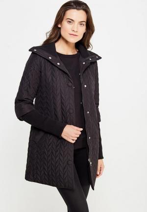 Куртка утепленная oodji. Цвет: черный