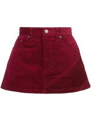 Corduroy Mini skirt Marc Jacobs. Цвет: красный