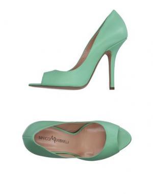 Туфли MARCO BARBABELLA. Цвет: светло-зеленый