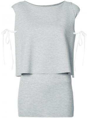 Многослойная блузка Dorothee Schumacher. Цвет: серый