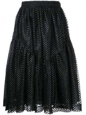 Плиссированная юбка Jourden. Цвет: чёрный