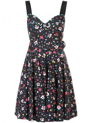 Корсетное платье с цветочным принтом Marc Jacobs. Цвет: чёрный