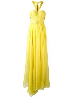 Расклешенное платье Maria Lucia Hohan. Цвет: жёлтый и оранжевый