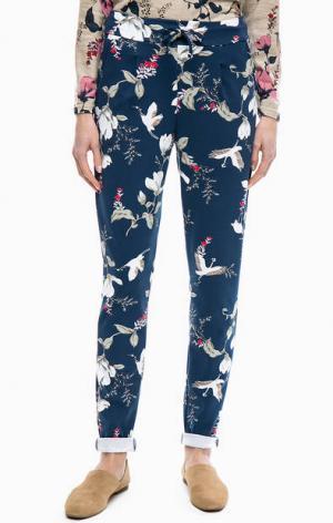 Зауженные брюки из вискозы с цветочным принтом b.young. Цвет: цветочный принт