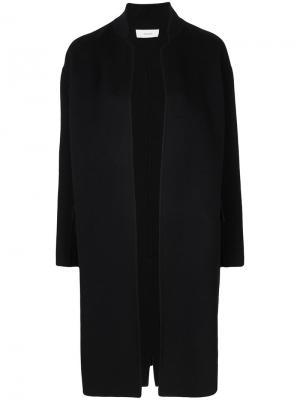 Строгое длинное пальто Astraet. Цвет: чёрный