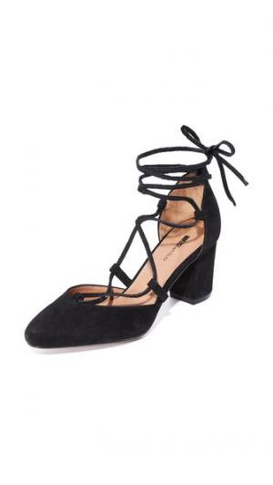 Туфли-лодочки Callie на шнуровке Matiko. Цвет: голубой