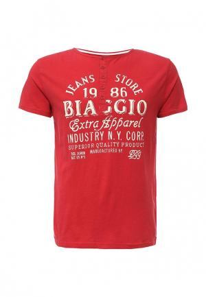 Футболка Biaggio. Цвет: красный