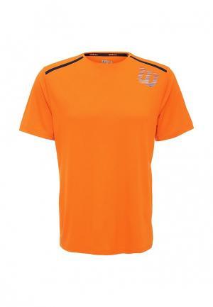 Футболка спортивная Wilson. Цвет: оранжевый