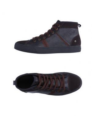 Высокие кеды и кроссовки MONTEFIORI. Цвет: темно-коричневый