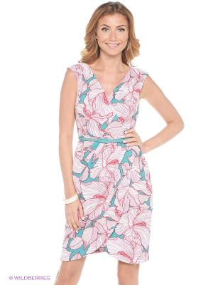 Платье London Times. Цвет: розовый, синий