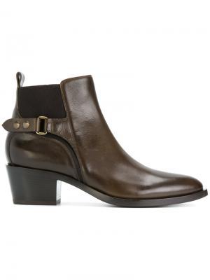 Ботинки по щиколотку Sartore. Цвет: коричневый