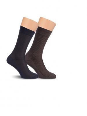 Носки, 2 пары Cascatto. Цвет: черный, коричневый