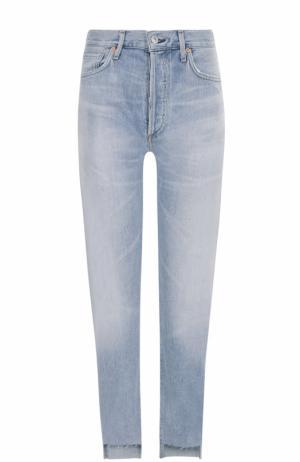 Укороченные джинсы прямого кроя Citizens Of Humanity. Цвет: голубой