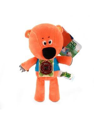 Мягкая игрушка мульти-пульти медвежонок кешка 20см. Цвет: оранжевый, синий
