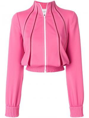 Спортивная куртка с контрастной строчкой Valentino. Цвет: розовый и фиолетовый