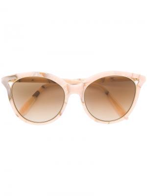 Солнцезащитные очки  с оправой кошачий глаз Victoria Beckham. Цвет: розовый и фиолетовый