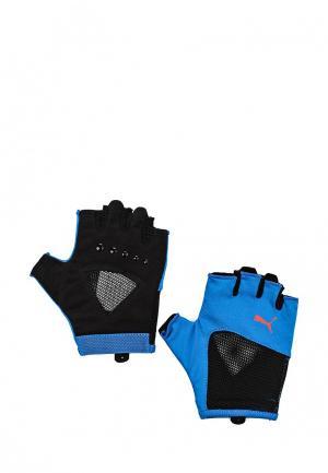 Перчатки для фитнеса Puma. Цвет: синий