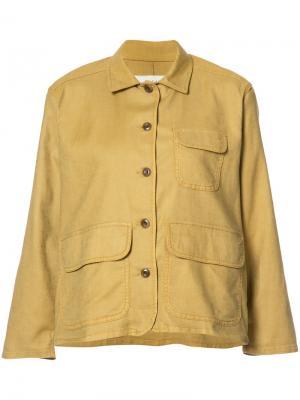 Куртка с расклешенными рукавами The Great. Цвет: жёлтый и оранжевый