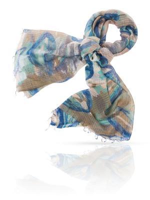 Палантин MICHEL KATANA`. Цвет: синий, бирюзовый, серо-голубой