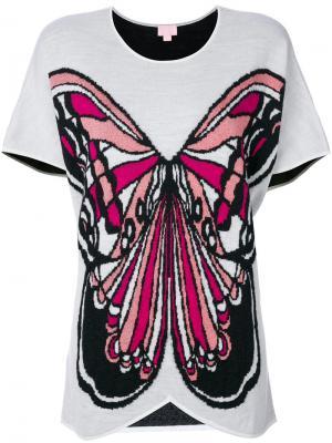 Топ с бабочкой Giamba. Цвет: многоцветный