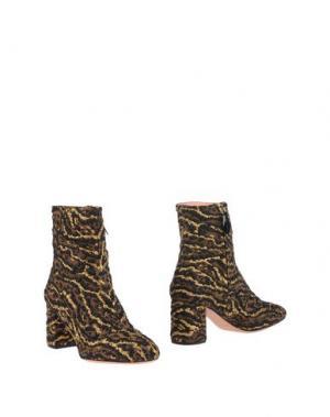 Полусапоги и высокие ботинки ROCHAS. Цвет: хаки