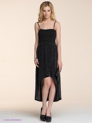 Платье ICHI. Цвет: черный, серебристый