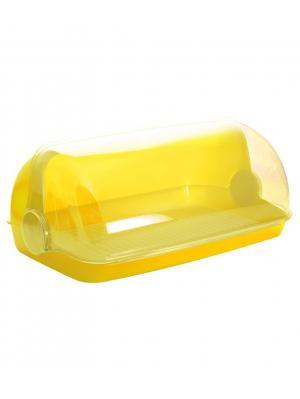 Хлебница Пышка малая Plastic Centre. Цвет: желтый